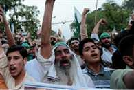 Protests erupt in PoK  Nawaz Sharifs party accused of rigging elections