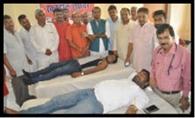 कारगिल विजय दिवस पर भाजपाइयों ने किया रक्तदान