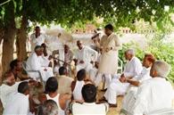सांसद सैनी के दौरे को लेकर गांवों में किया जनसंपर्क