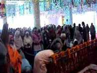 The other day there was a crowd of devotees
