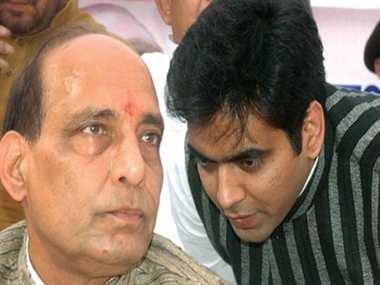 Rajnath Singh moves BJP brass over his son rumours