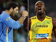 usain bolt will chalenge yuvi in cricket