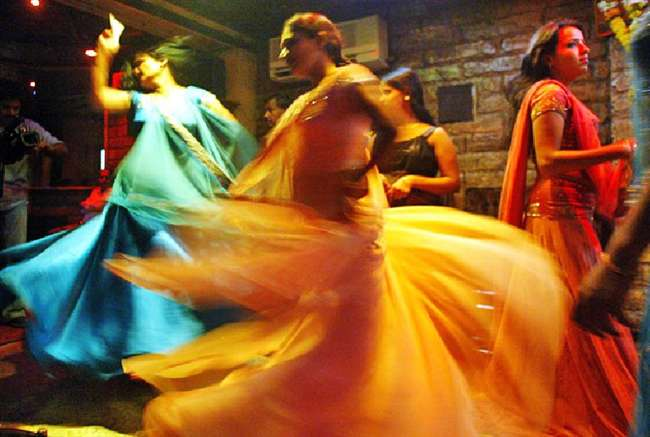 bar girls dirty dance on occasion of  janmashtami