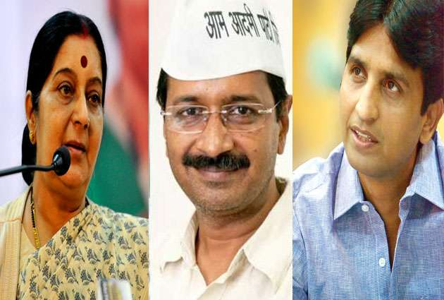 ncr cm arvind kejriwal and party leaders congratulates and praises sushma swaraj on her speech at unga