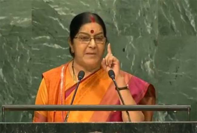 Sushma says Kashmir is an integral part of India and will always be