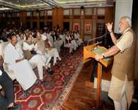 Think big, above politics, PM tells NDA MPs, makes pro-poor pitch
