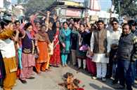 People Protest in Haridwar