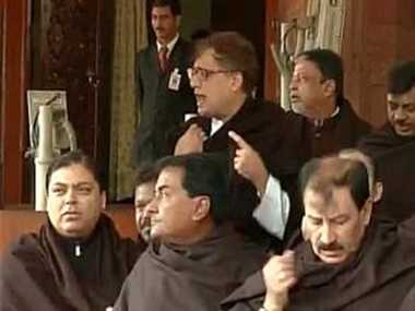 TMC protest over black money issue outside Parliament