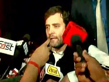rahul gandhi protest against demolition in rangpur pahari slums