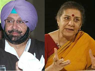 Amarinder become punjab Congress president ,  Ambika head of Campaign Committee