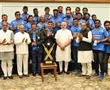 ब्लाइंड टी 20 विश्वविजेता टीम ने प्रधानमंत्री नरेंद्र मोदी से की मुलाकात