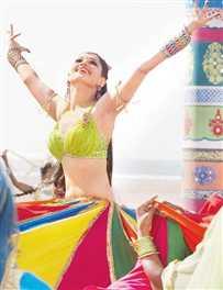 Designer Rick Roy creates 36 metre-long skirt for  Tamannaah