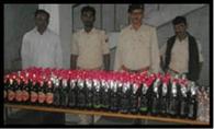 235 बोतल नेपाली शराब के साथ चार गिरफ्तार, जेल