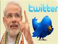 Modi reaches third position on twitter