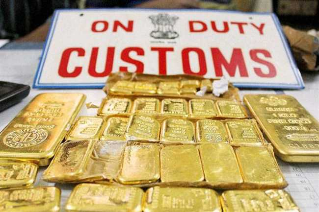 Gold smuggling Mainly because of high custom duty