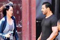 Sonakshi Sinha and John Abraham on sets of Force 2 in Mumbai