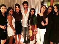 Shah Rukh poses with KKR players wife