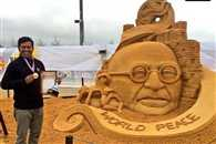 Sand artist Sudarsan Pattnaik wins gold medal at Moscow Sand Sculpture Championship