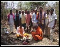 धान बुआई के लिए हुई ग्राम देवी की पूजा