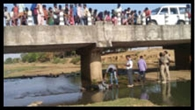 नदी पुल से गिरकर ग्रामीण की मौत