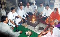 भगवान परशुराम जयंती पर किया हवन यज्ञ