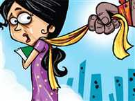 husband pulled scarf, wife file molestation case