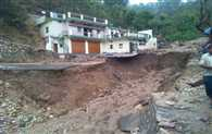 Rain water and Debris entered the houses in Tehri and Pithoragarh, Road Blocked