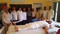 डडहेड़ी में लगाए शिविर में 51 लोगों ने किया रक्तदान