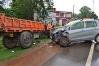 मारुति ने ट्रैक्टर को मारी टक्कर, तीन घायल