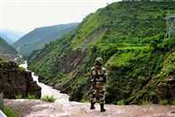 Heavy rain in Jammu and Kashmir military post submerged