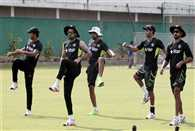 Indian cricket team practiced for second test