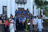 The Indian Cricket Team was invited by the the High Commission of India Kingston Jamaica
