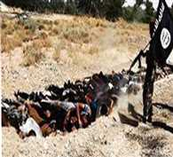 Islamic State executes 250 Syrian soldiers - video