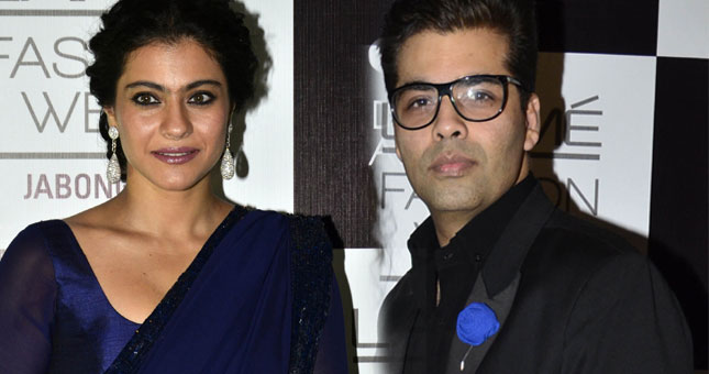 Karan Johar and Kajol avoid each other