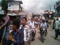 Students Bike Rally in support of Pavndeep