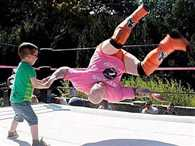 Amazing! just 6 years kid defeat wrestler