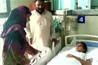 Mehbooba Mufti visits AIIMS to see girl blinded in pellet gun firing
