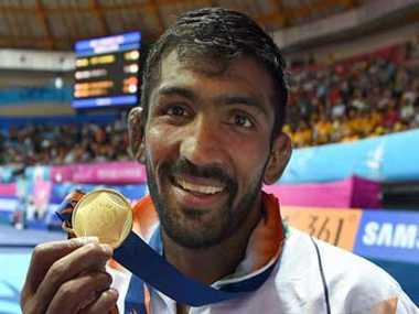 Yogeshwar Dutt wins gold in Asian Games 2014 wrestling