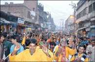 Edited temple in Ayodhya was late night wedding ceremony