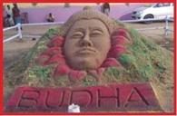 Sand art Buddha figure