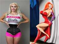 Model Pixee Fox has 15 surgeries and 6 RIBS removed to look like Jessica Rabit