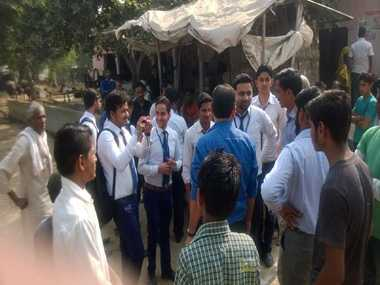 Marketing Club through the rural students studying management