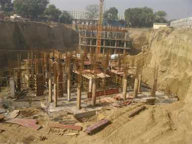 Under construction building collapses in East Kidwai Nagar
