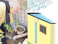 Rain water conservation campaign