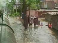 Water pipeline burst in Thane