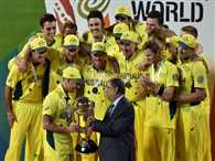 Srinivasan gives World Cup trophy to Australia in Melbourne