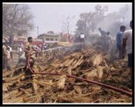 कुट्टी मिल में लगी आग, 50 हजार का नुकसान