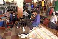 Locals stranded at Guwahati railway station