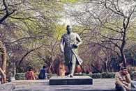 Senior citizens walk in JNU campus closed