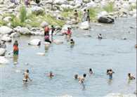 Bjreshwari deserted pier, pilgrims bath in Bner